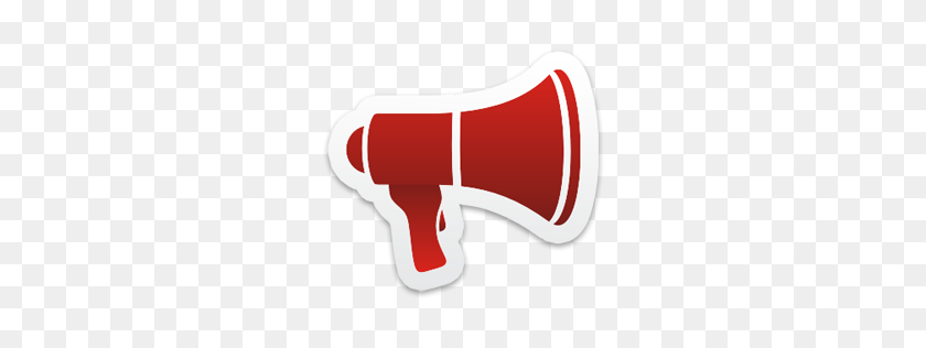 256x256 Megaphone Icon From Colorful Stickers Part Set Px - Megaphone PNG