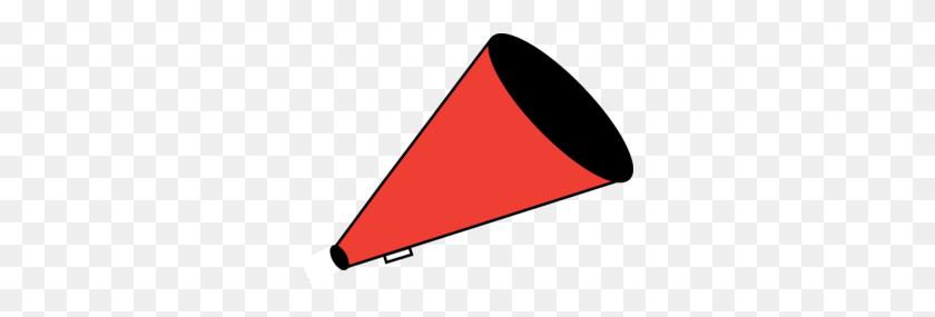 299x225 Megaphone Red Clip Art - Megaphone Clipart