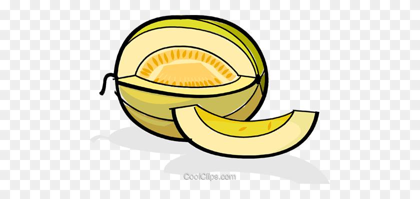 480x338 Melon Slices Royalty Free Vector Clip Art Illustration - Melon Clipart
