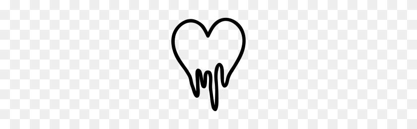 Melting Heart Png Transparent Images - Melting Black Dripping Heart , Free Transparent  Clipart - ClipartKey
