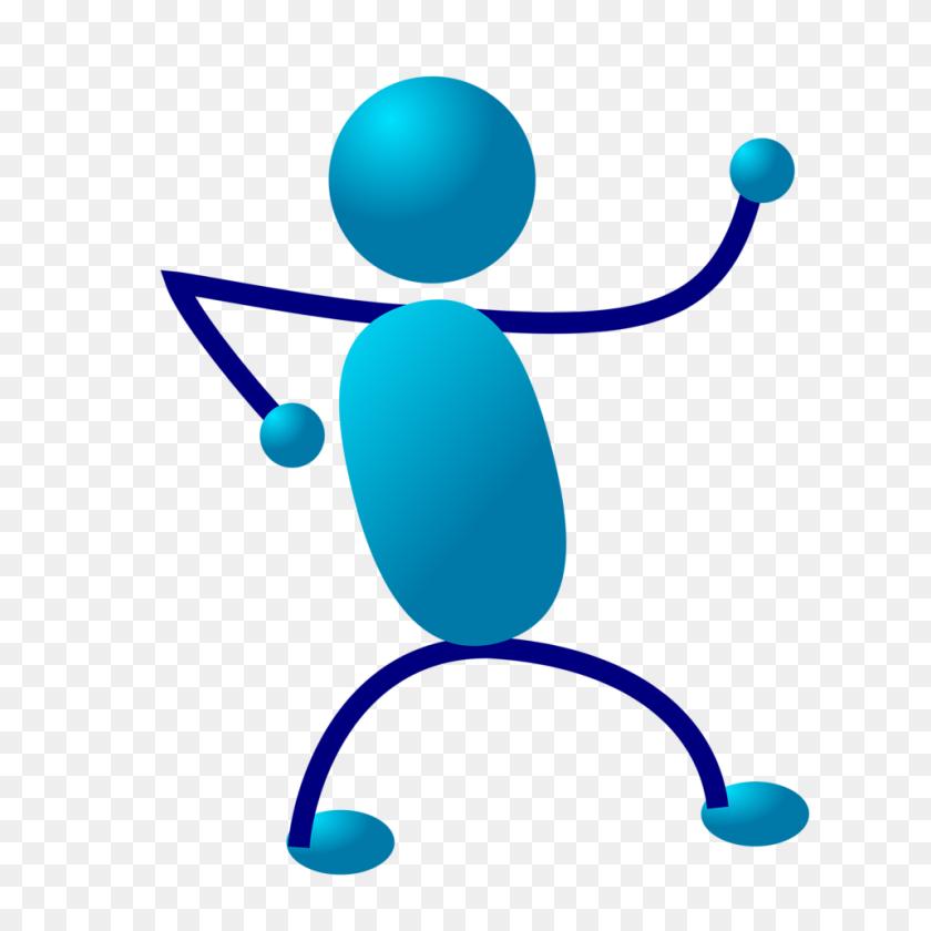 Men Clipart Blue - Men Running Clipart