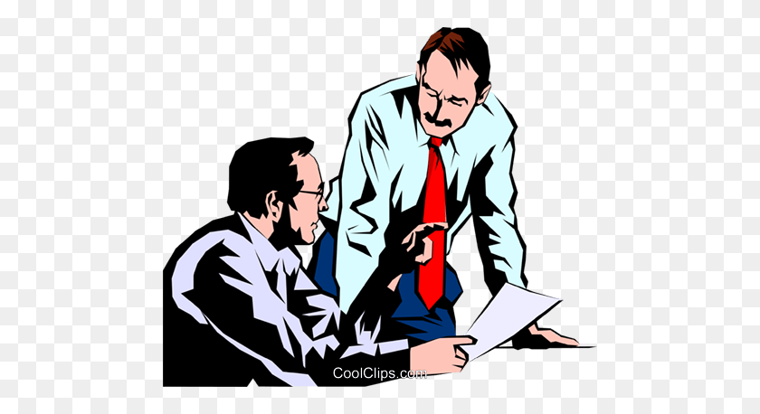 Men Meeting Royalty Free Vector Clip Art Illustration - Meeting Clipart