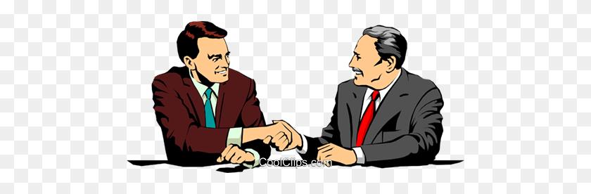 480x216 Men Meeting Royalty Free Vector Clip Art Illustration - Meeting Clipart