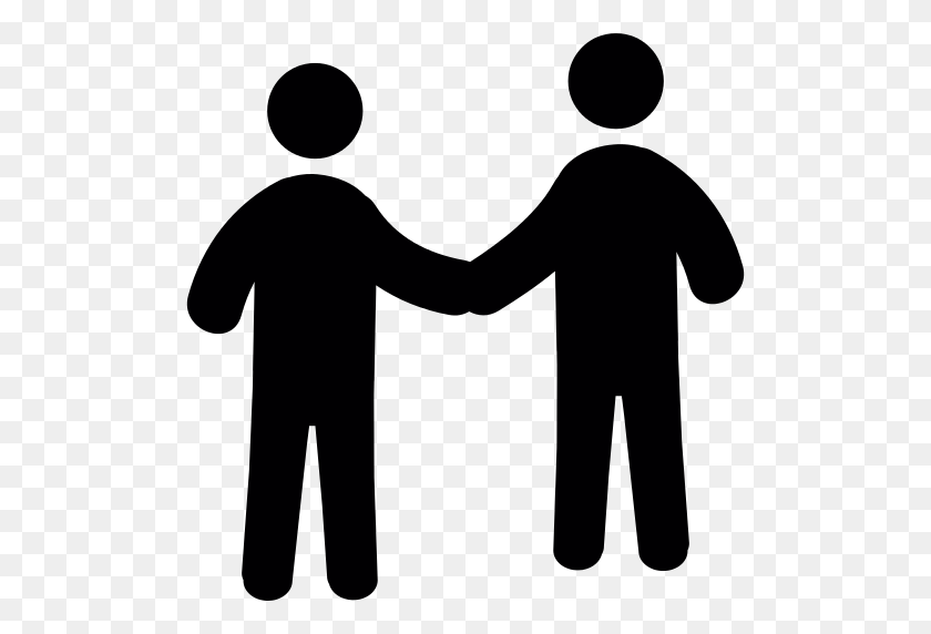 Men Shaking Hands Png Icon - Shaking Hands PNG
