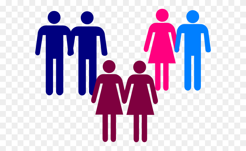 Men Women Holding Hands Clip Art - People Holding Hands Clipart