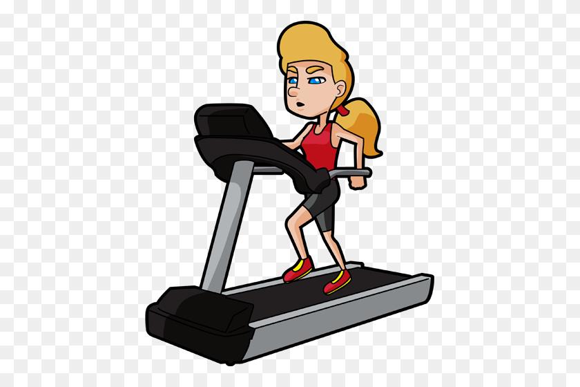 Mental Health Blog Excercise - Treadmill Clipart