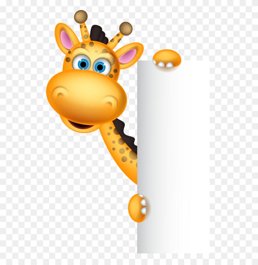 Menu Board Giraffe, Clip Art And Cards - Zoo Animals Clipart
