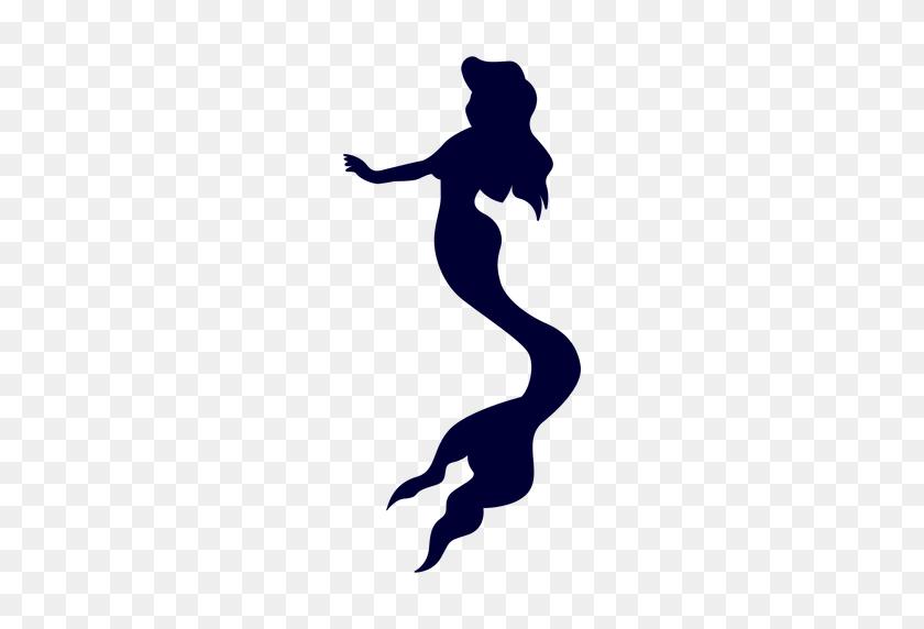 Mermaid Creature Silhouette - Mermaid PNG