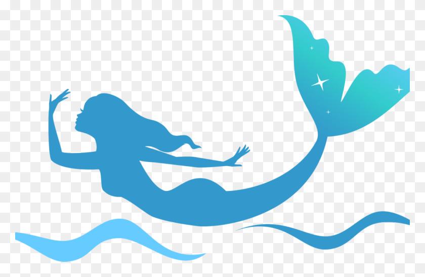Mermaid Swim Instructor Lifeguard - Mermaid Silhouette PNG