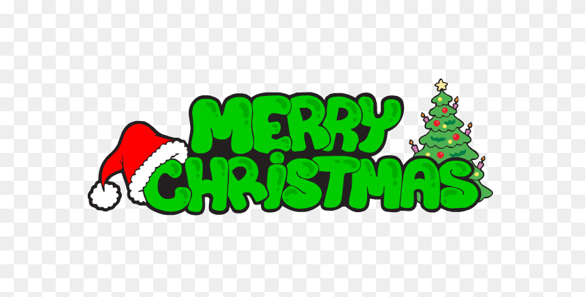 Merry Christmas Green Text Transparent Png - Merry Christmas PNG