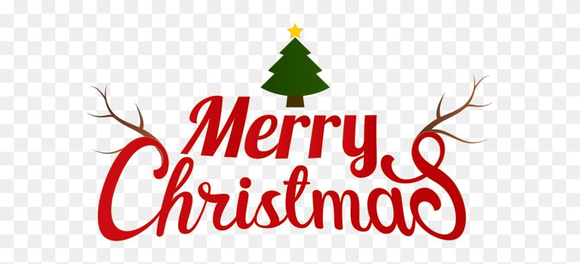 Merry Christmas Transparent Clip - Christmas Tree Clipart Transparent