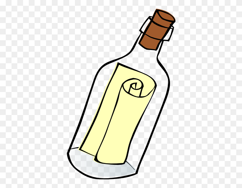 378x594 Message In A Bottle Clip Art - Moonshine Still Clipart