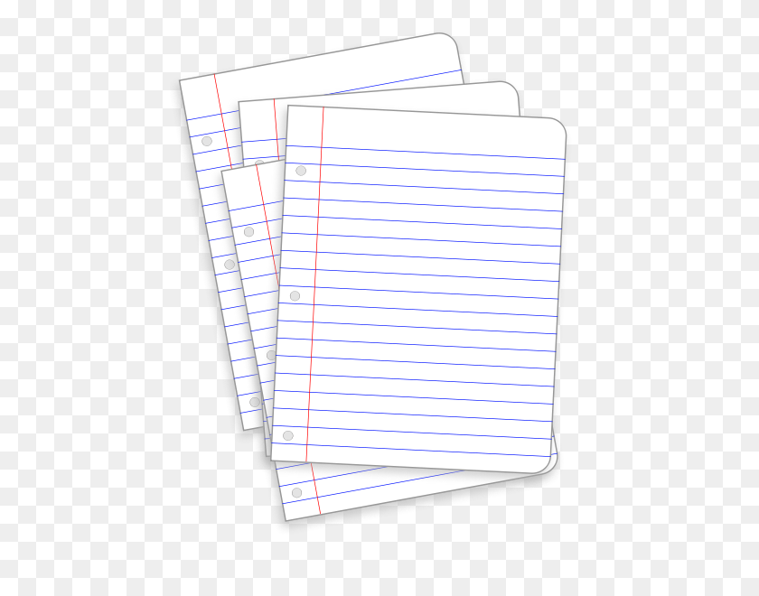 464x600 Messy Lined Papers Png Clip Arts For Web - Paper Clipart PNG