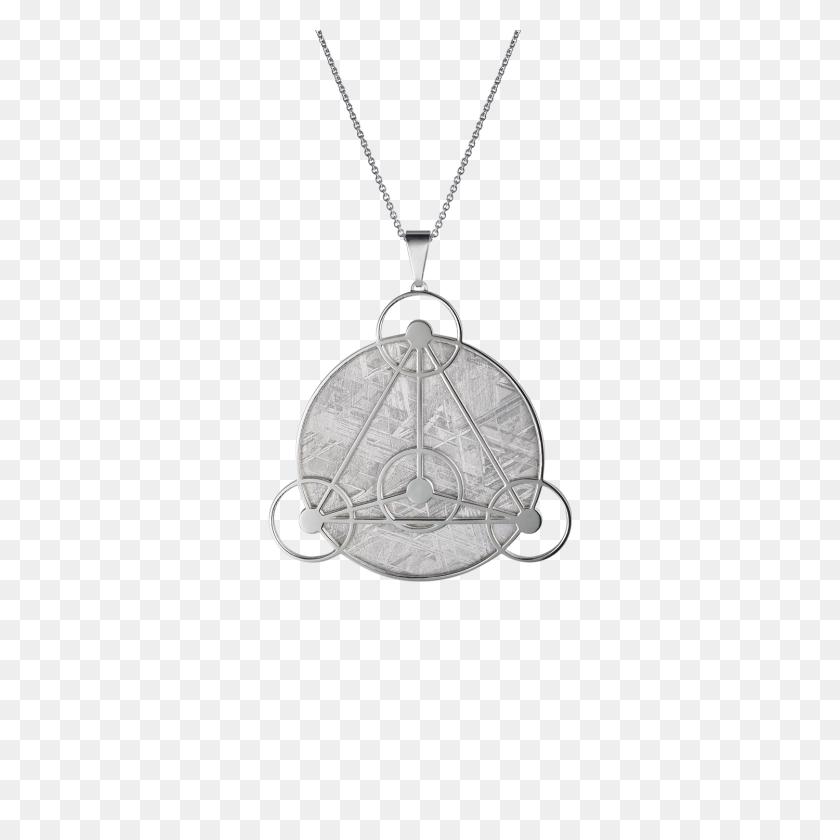 Meteorite Crop Circle Geometry Pendant In Silver - Silver Circle PNG