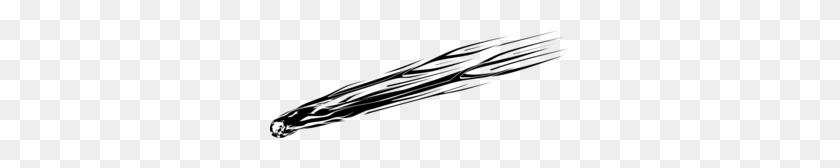 Meteorite Fall Clip Art - Meteor Clipart Black And White
