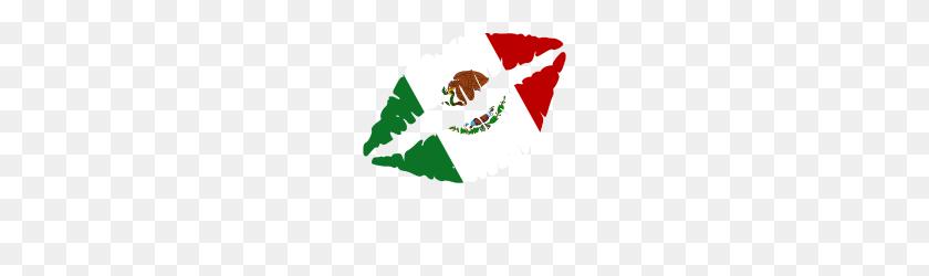 Mexico Kiss Peck Flag Flag Gift - Bandera Mexico PNG