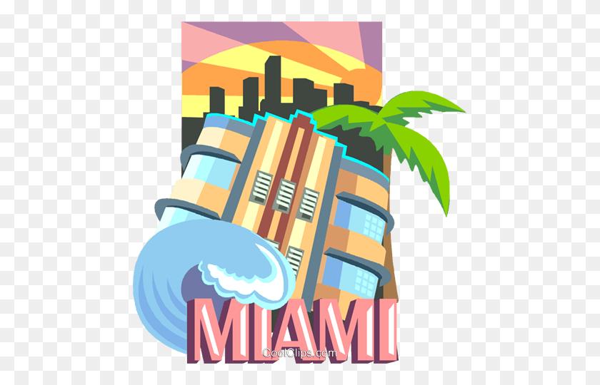 Miami Florida Royalty Free Vector Clip Art Illustration - Miami Clipart