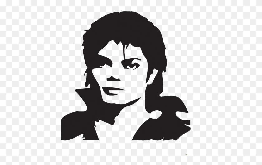 469x470 Michael Jackson Black And White Head Portrait Custom Ideas - T Shirt Clipart Black And White