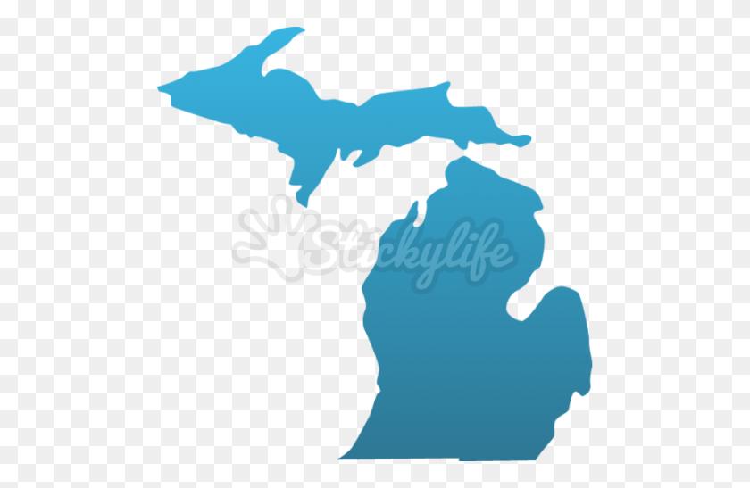 Michigan Custom State Decals - Michigan State Clip Art