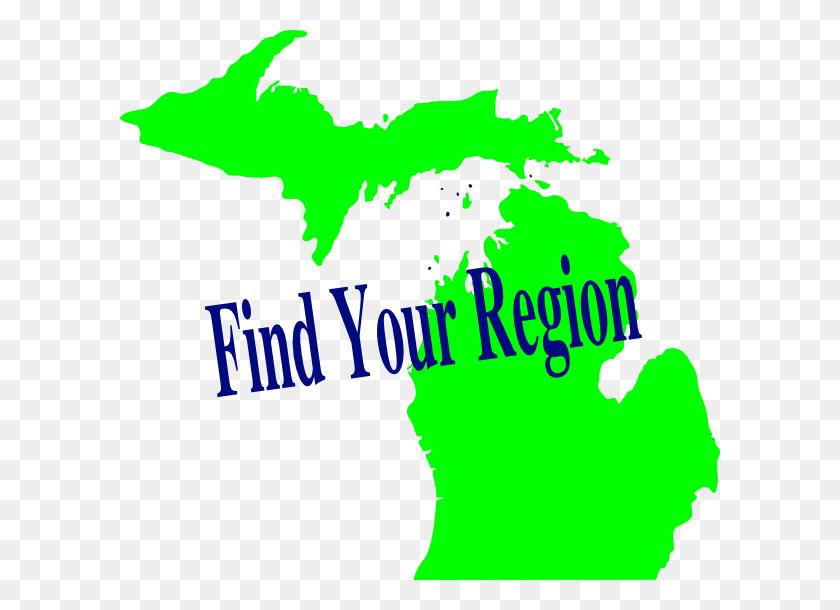 600x550 Michigan Region Clip Art - Region Clipart