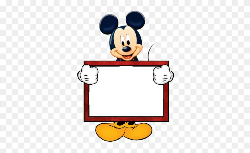 Mickey Blank Sign Disney Theme Classroom Teacher Mickey Mouse - Mickey Mouse Border Clipart