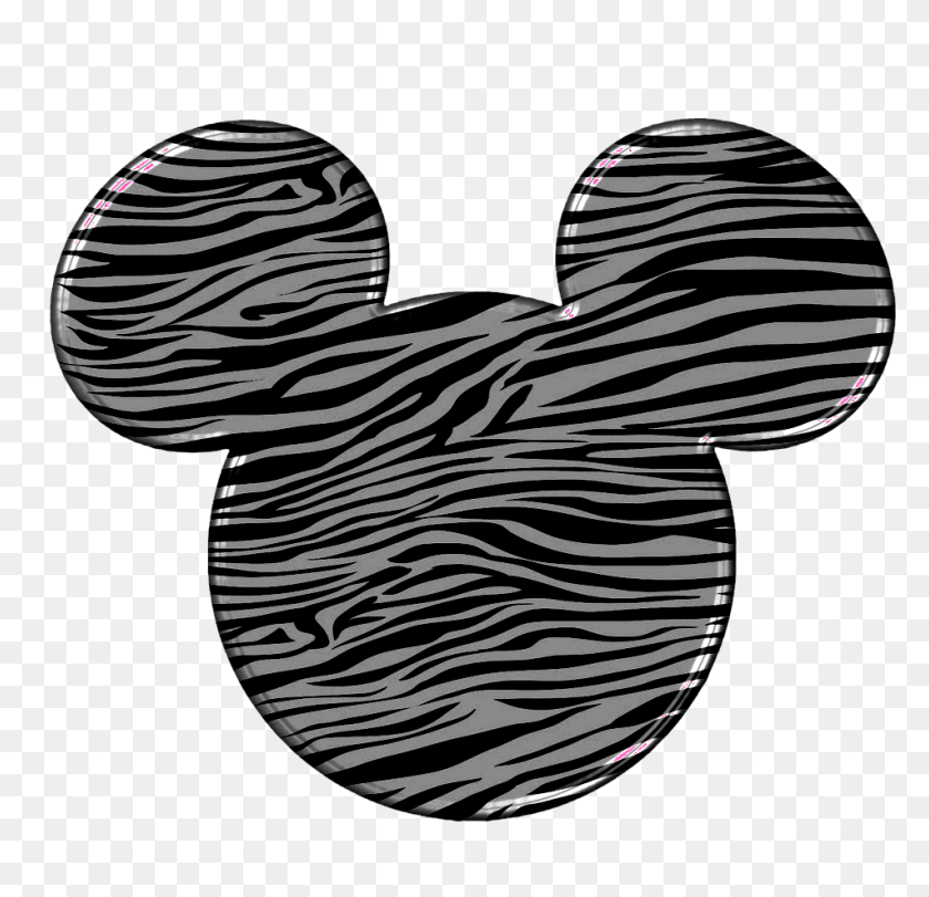 Mickey Heads Mickey Head - Disney Clipart Black And White