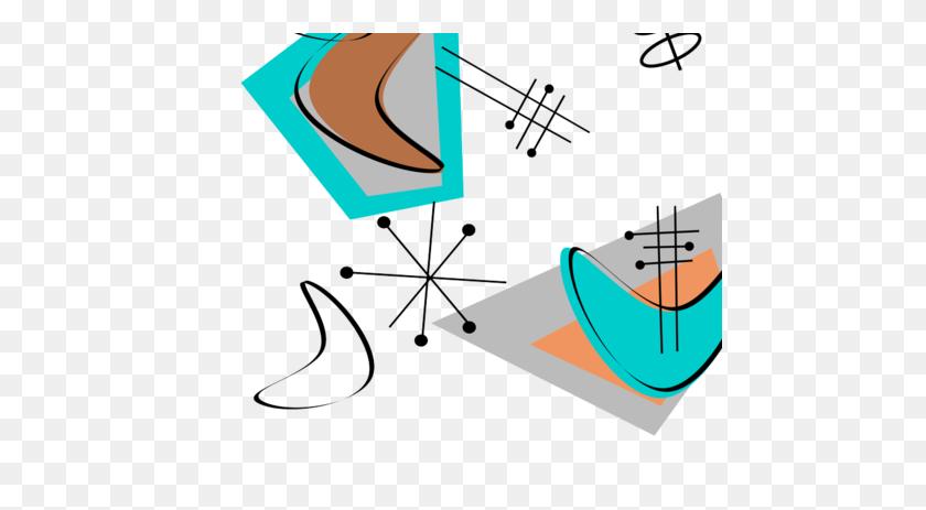 Mid Century Modern Boomerangs Fabric - Mid Century Modern Clip Art