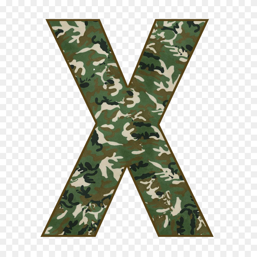 Military Camouflage Alphabet Letter Army - Camouflage PNG