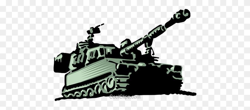 480x311 Military Tank Royalty Free Vector Clip Art Illustration - Artillery Clipart