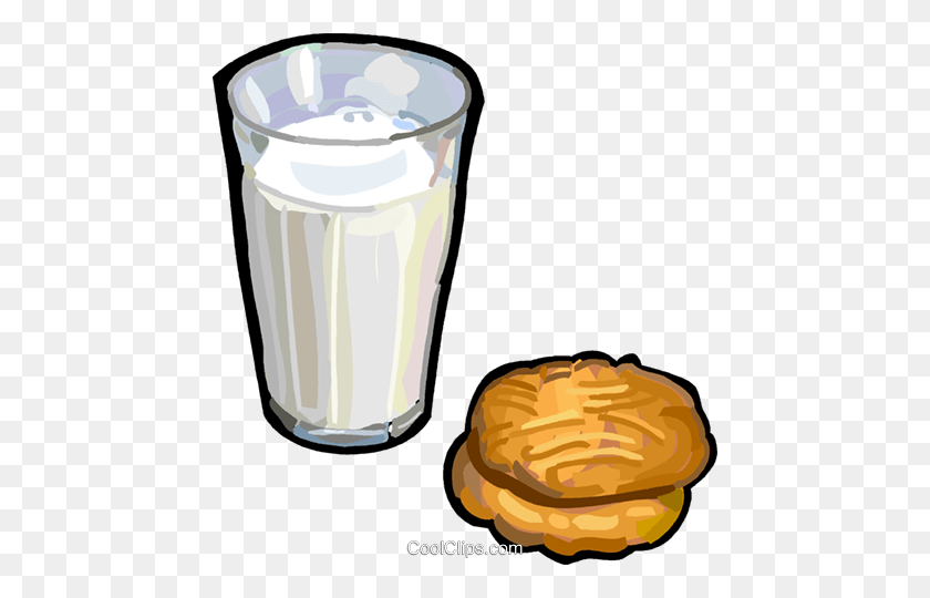 Milk And Cookies Royalty Free Vector Clip Art Illustration - Milk And Cookies Clipart