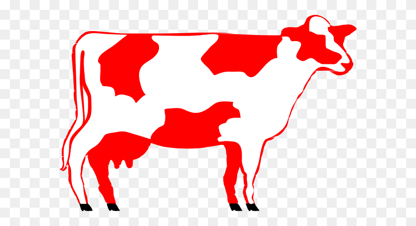 Milking Shorthorn Cow Clip Art - Milking A Cow Clipart