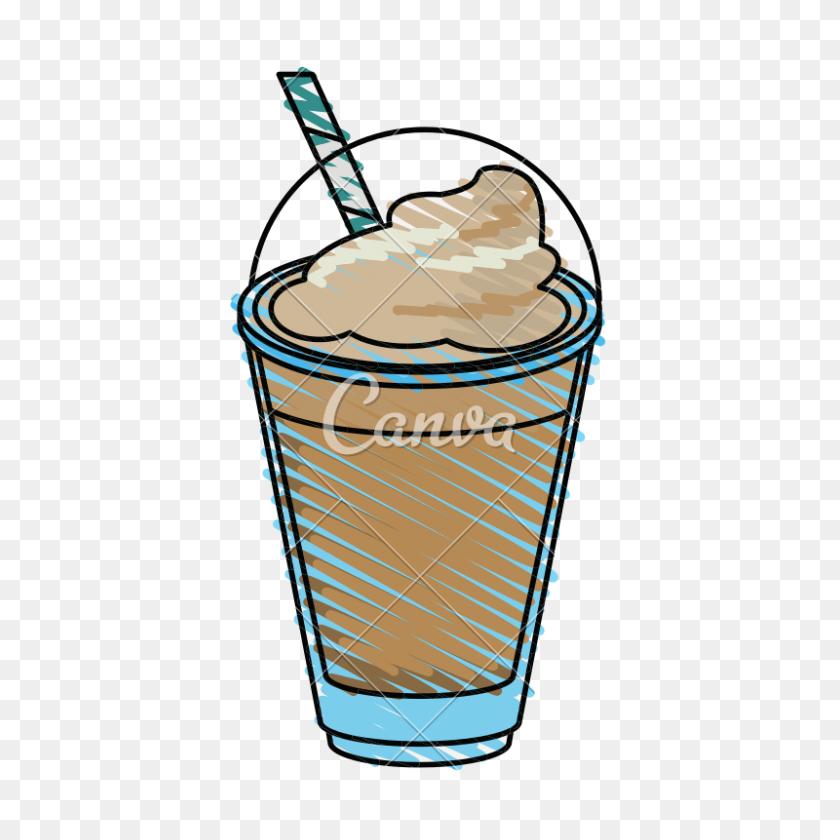 Milkshake And Whipped Cream Design - Whipped Cream Clipart