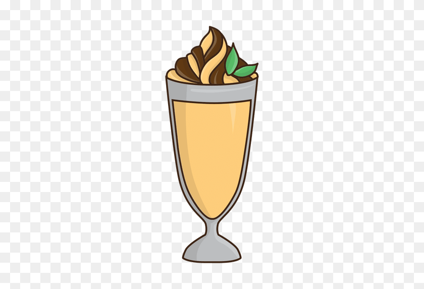 Milkshake Caramel Dessert - Caramel PNG
