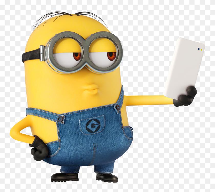 Minion Selfie Large Transparent - Selfie Clipart