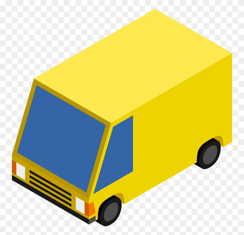 Minivan Car Truck Vehicle - Mail Truck Clipart