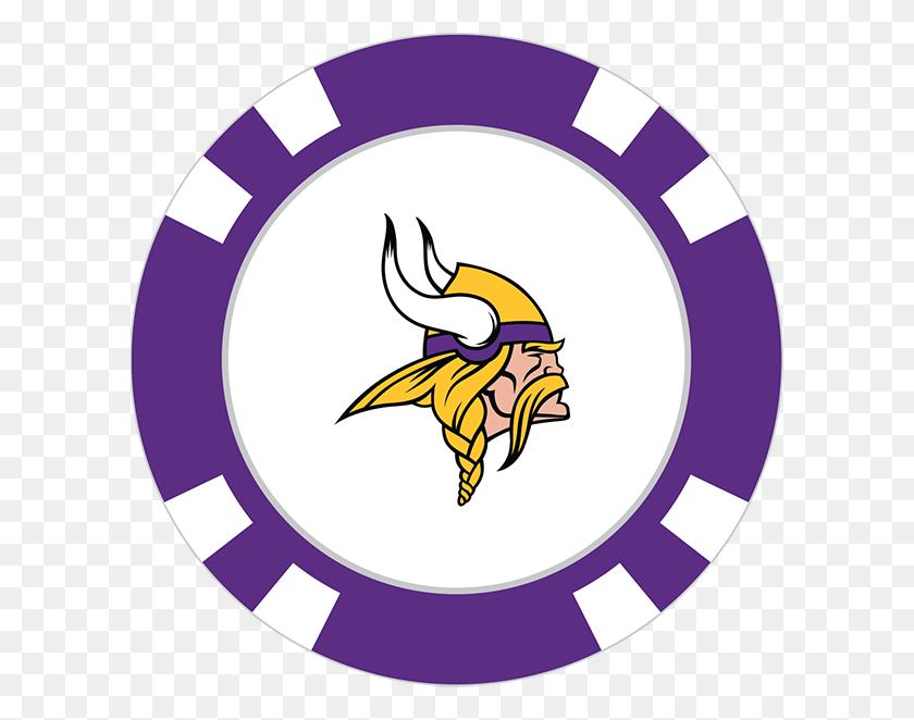 Minnesota Vikings Poker Chip Ball Marker - Minnesota Vikings Clipart
