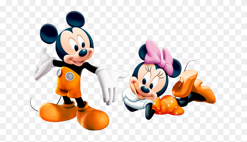 Minnie Orange Mickey Minnie - Minnie Head PNG
