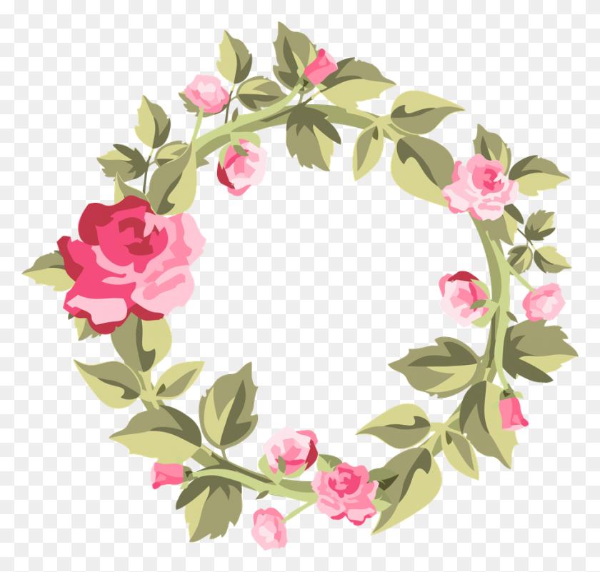 900x855 Minus - Free Floral Wreath Clipart