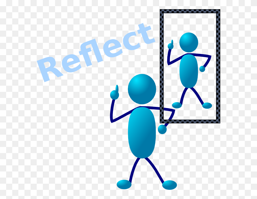 600x590 Mirror Clipart Reflective - Looking In Mirror Clipart