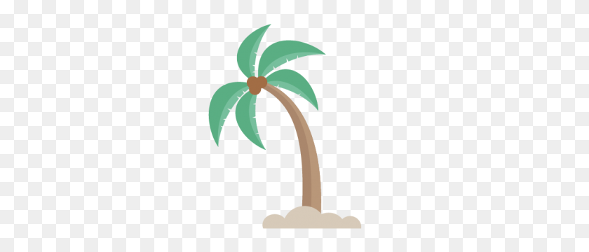 Miss Kate Cuttables Product Categories Scrapbooking - Palm Tree Beach Clip Art