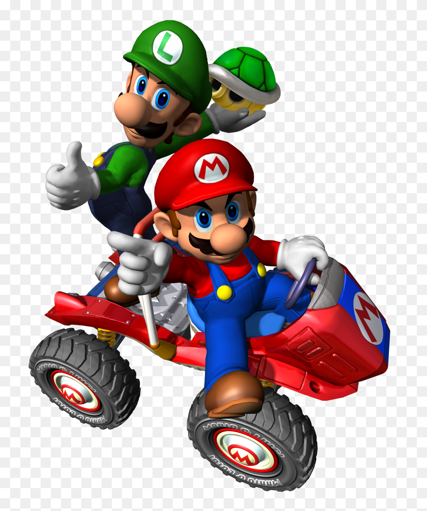 Mku Mario Luigi Mario Mario, Mario Kart - Mario And Luigi PNG