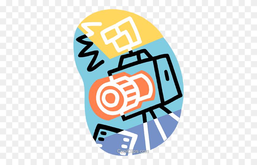 Mm Camera With Flash Royalty Free Vector Clip Art Illustration - Camera Flash Clipart