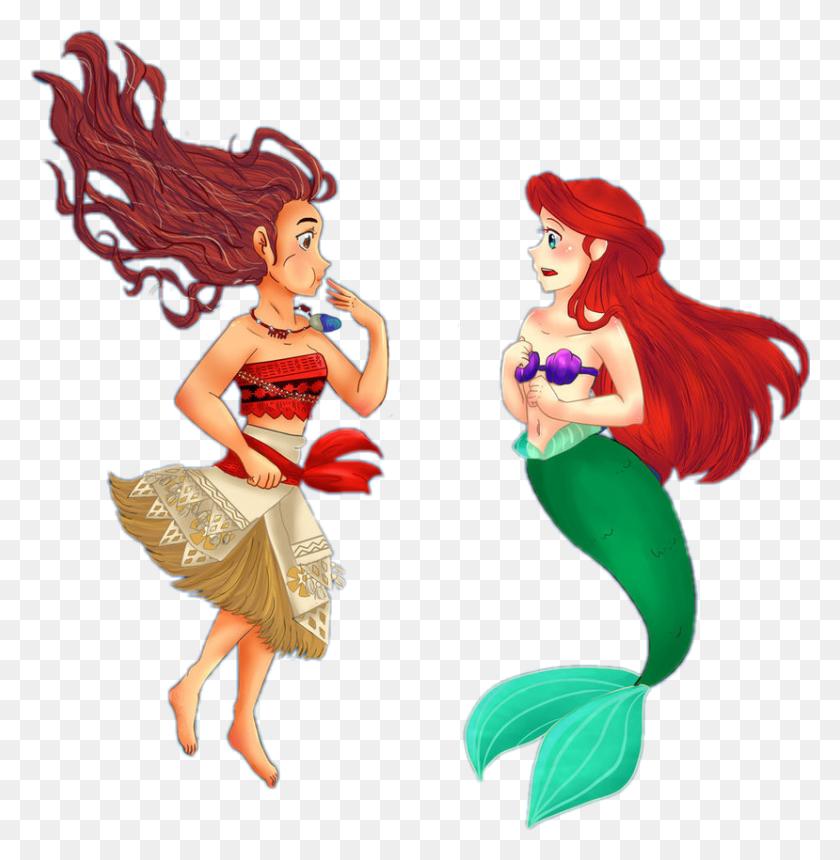 829x851 Moana Disney Mermaid Mermaids Thelittlemermaid Littleme - Moana Clipart PNG