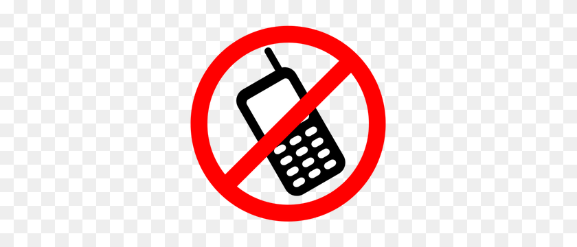 Mobile Phone Clip Art Free - No Electronic Devices Clipart