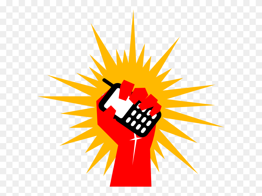 Mobile Revolution Red Clip Art - Revolution Clipart