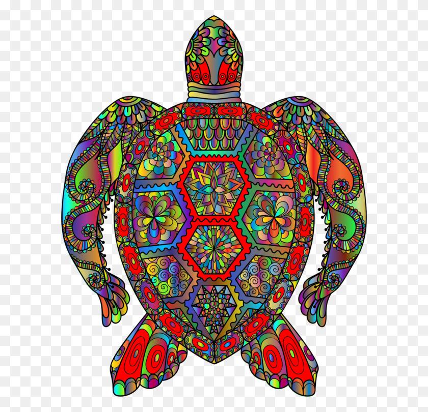 Modern Sea Turtles Reptile Art Painted Turtle - Sea Turtle Clipart PNG