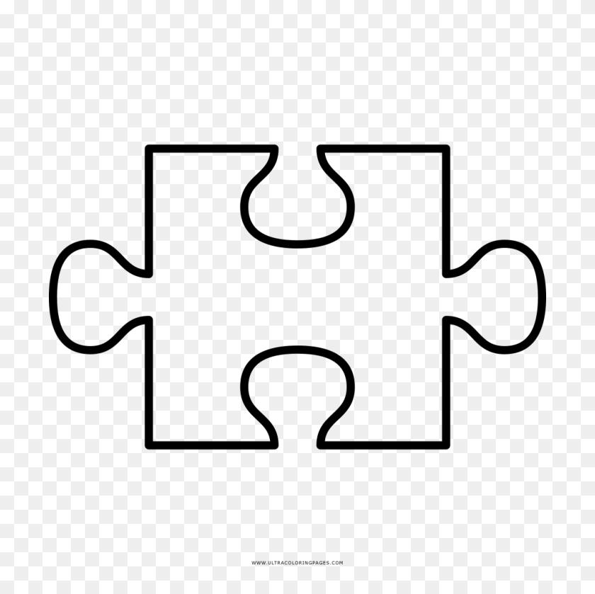 Modest Puzzle Piece Coloring - Modest Clipart