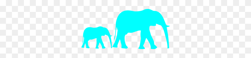 Mom And Baby Elephant Blue Clip Art Things For My Kids - Mom And Baby Elephant Clipart