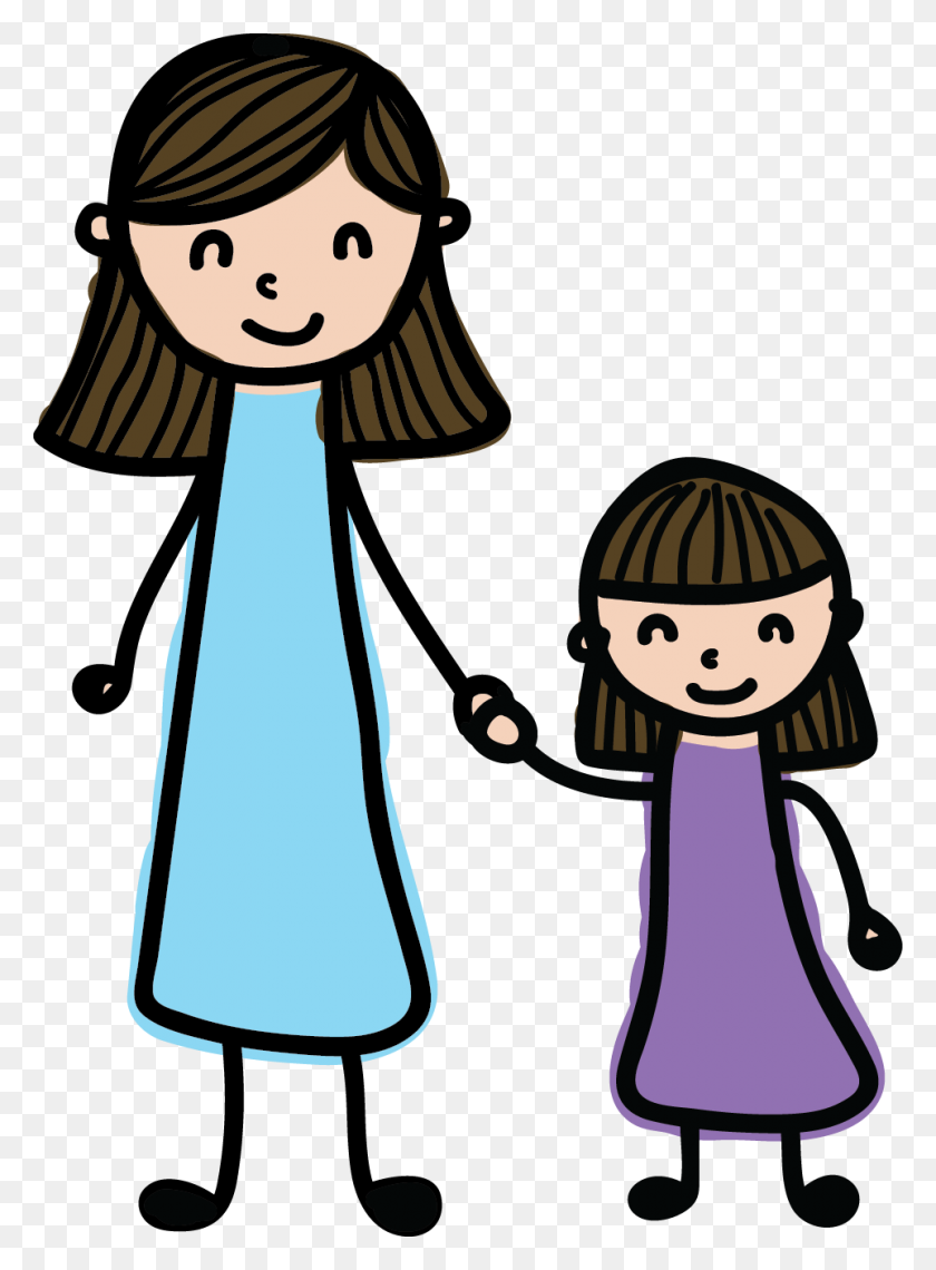 Mom And Child Clip Art - Mother And Child Clipart