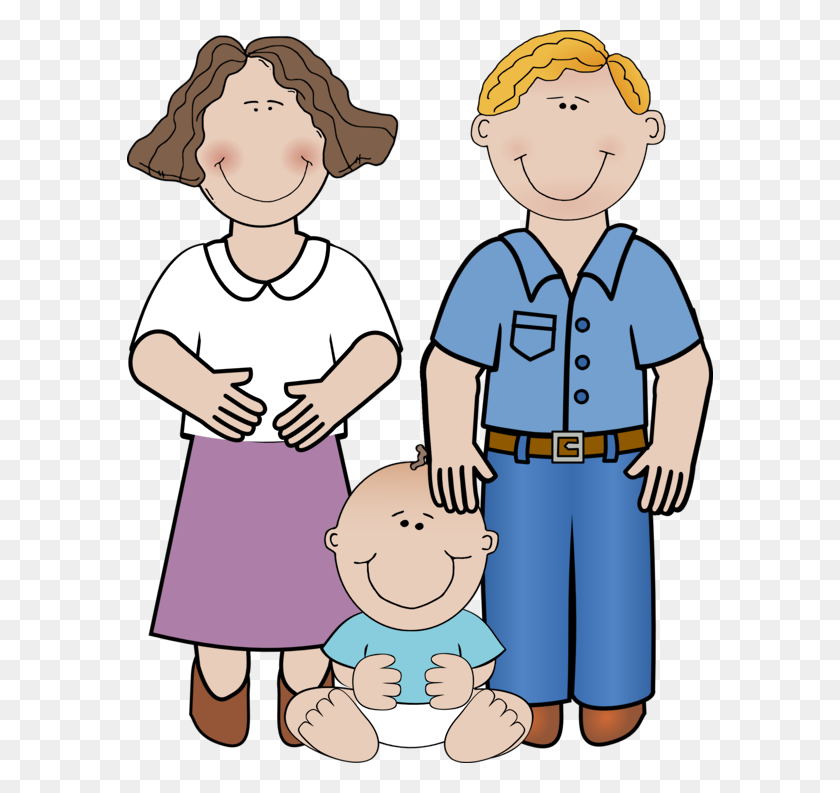 Mom Dad And Baby Clipart - Mom And Dad Clipart